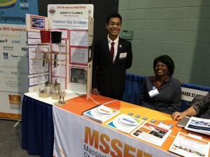 Avery Clowes and proud mom featured at the MSSEF Table at the 2016 STEM Summit
